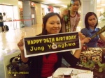 During press conference, we also celebrated CNBLUE leader Jung Yonghwa'sbirthday